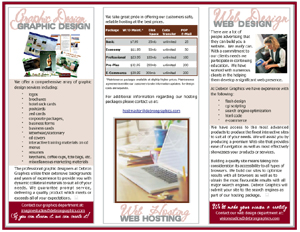 Debron Graphics - Brochure Design Samples, Tri-Fold Design Samples